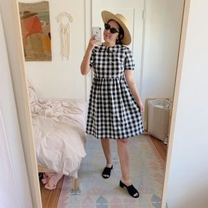 NWT! UO Gingham Dress with Peter Pan Collar